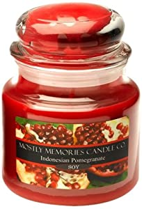 Mostly Memories Indonesian Pomegranate 20-Ounce Lid Lites Soy Candle