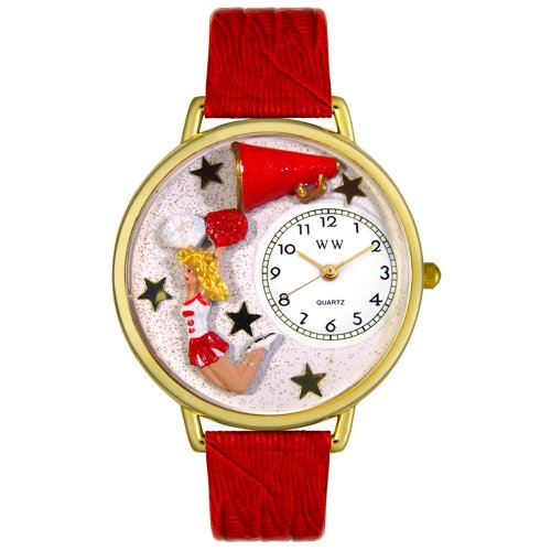 Whimsical Watches Unisex G0820015 Cheerleader Hunter Green Leather Watch