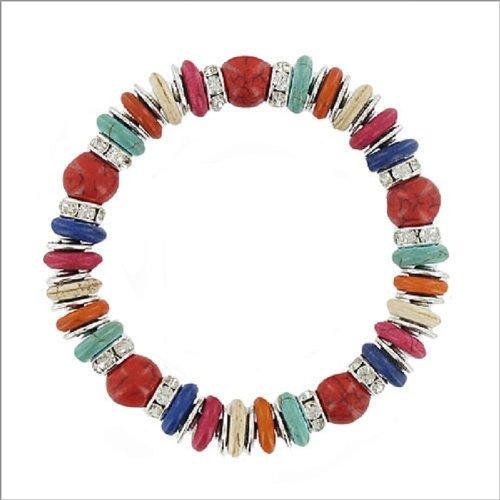 JOA Multi Ring & Crystal Rondelle Bracelet #038216