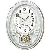 SEIKO CLOCK(セイコークロック) アミューズ電波掛時計(白) AM258W