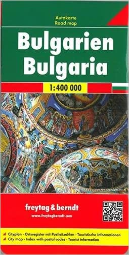 Bulgaria 1:400,000 road map FB (Road Maps) (English and German Edition)