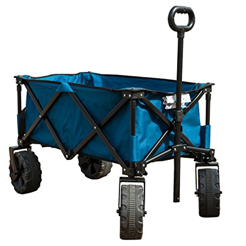 TimberRidge Folding Camping Wagon/Cart - Collapsible Sturdy Steel Frame Garden/Beach Wagon/Cart (Beach Wagon With Big Wheels compare prices)