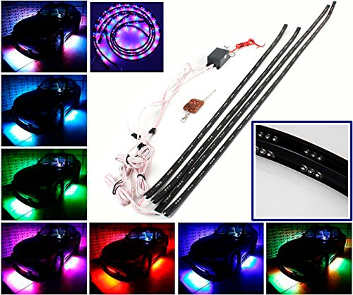 CHAMPLED® 7 Color LED Flexible NEON LIGHT STRIP UNDERBODY UNDER CAR KIT Wireless Remote Control For BMW M BENZ AUDI VW VOLKSWAGEN VOLVO JAGUAR PORSCHE