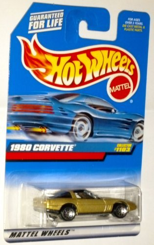 Hot Wheels 1999 1980 Corvette #1103 1:64 Scale Die-Cast Vehicle - 1