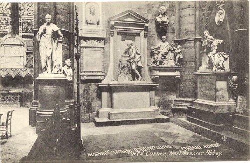 1910 Vintage Postcard Poet's Corner Westminster