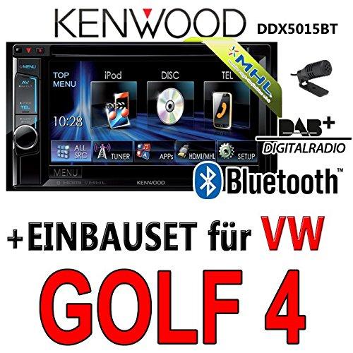 VW golf iV - 4-kenwood dDX5015BT 2DIN multimédia uSB mHL avec dAB