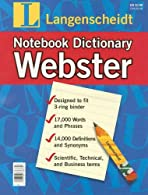 Notebook Webster's Dictionary
