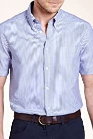 Blue Harbour Pure Cotton Bengal Striped Oxford Shirt [T25-5782B-S]
