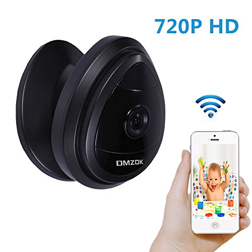 DMZOK Security Wireless Camera, WiFi Baby Pet Camera Monitor with Built-in Microphone, Remote View On Free Mobile App, Motion Detection, Home Monitoring Camera(Black - No Night Vision) (Cameras House compare prices)