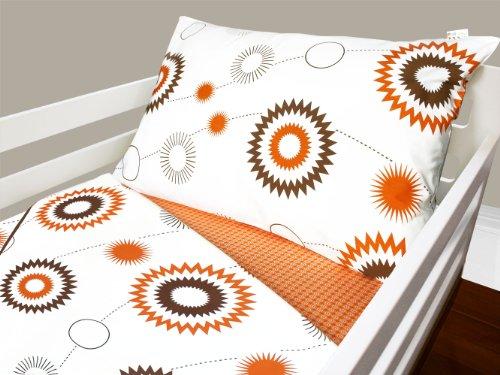 Olli & Lime billie Toddler Bedding Set, Orange/White