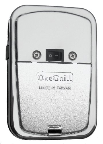 Onegrill Cordless Grill Rotisserie Motor- Chrome 25 Lb. Load W/ Ac Adapter