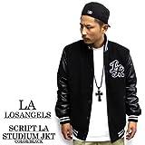 2628【LA/エルエー】 LOSANGELES SCRIPT STUDIUM JACKET スクリプトジャケット/メンズアウター、ジャンバー/スタジャン/ビックサイズあり