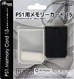 PS1用 メモリーカード15 ブラック アンサー