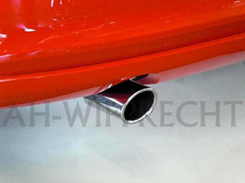 Volkswagen Original VW GTI Tuning Chrom Tuning Auspuffblende Endrohr Polo 6R Blende Auspuff