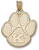 Kentucky Wildcats K Paw 3 4 Pendant - 14KT Gold Jewelry by Logo Art