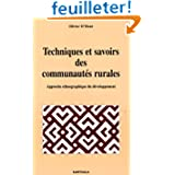 Techniques et savoirs des communautés rurales : Approche etnographique du développement
