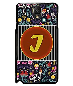 PrintVisa Metal Printed Alphabet Designer Back Case Cover for Samsung Galaxy Note 3-D4792
