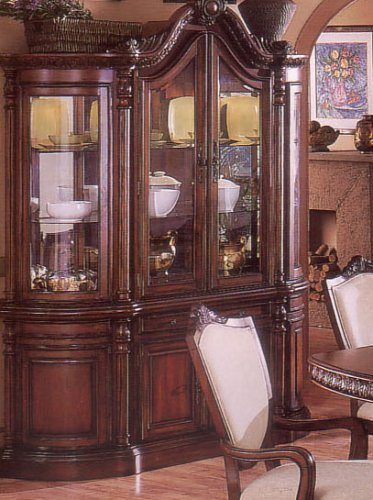 Cheap China Cabinet Buffet Hutch Brown Cherry Finish (VF_AZ00-39481×21564)