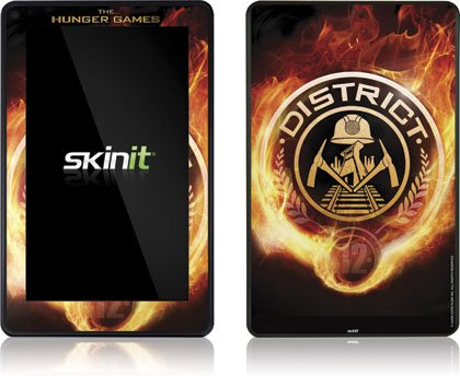 Skinit The Hunger Games -District 12 Logo on Fire Vinyl Skin for Amazon Kindle Fire