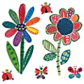 Wallies 13401 Jenny's Flowers and Bugs Wallpaper Mural
