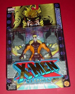 X-Men Classics: Sabretooth Poseable Action Figure with Restraint Wall and Snarling Action