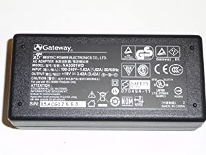 Gateway AC Adapter Charger with Power Cord 65 Watt, 19v, 3.42A. ADP-65HB, PA-1650, NA6501WD, NA6501. This is a Genuine, Original and OEM item. This is NOT a cheap knockoff or aftermarket replacement.
