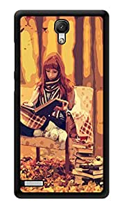 "Humor Gang Girl Reading In Woods Printed Designer Mobile Back Cover For ""Xiaomi Redmi Note - Xiaomi Redmi Note 4G"" (3D, Glossy, Premium Quality Snap On Case)"
