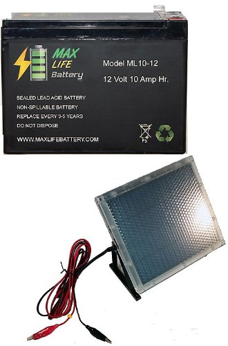 12V 10Ah Razor Imod 15130699 Electric Scooter 10Ah Battery With 12V Solar Panel Charger