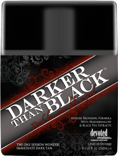 Devoted Creations DARKER THAN BLACK Bronze Tanning Lotion 8.