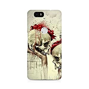 Mobicture Skull Abstract Premium Printed Case For Huawei Nexus 6P
