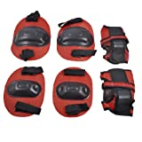 Como Children Skating Elbow Knee Wrist Pad Protectors Guards Black Red