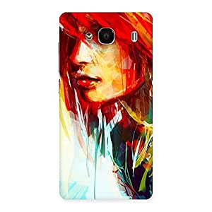 Enticing Art Girl Beauty Multicolor Back Case Cover for Redmi 2s