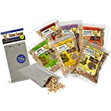 Smoking Pouch Kit - BBQ Smoker Bag with Six Packs of Flavored Wood Chips - Smoke Meat On Your Grill