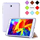 WAWO Creative Tri-fold Cover Case for Samsung Galaxy Tab 4 7.0 Inch Tablet - White