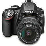 Nikon D3200 24.2 MP CMOS Digital SLR Camera with NIKKOR 18-55mm ED II Lens (Black) - International Version (No Warranty)