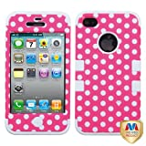 Product B008MMF0RG - Product title MYBAT IPHONE4AVHPCTUFFIM009NP Premium TUFF Case for iPhone 4 - 1 Pack - Retail Packaging - Dots(Pink/White)
