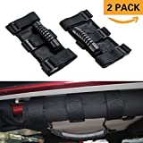 Jeep Wrangler Roll Bar Grab Handles,AnTom Heavy Duty Unlimited Wrangler Roll Bar Strong Durable, Easy to Fit 3 Straps Design, Fits 1955-2017 Models JK JKU CJ CJ5 CJ7 YJ TJ (Pack of 2)