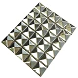 AutoM 100 PCS 10mm Leathercraft DIY Silver Metal Punk Spikes Spots Pyramid Studs Goth