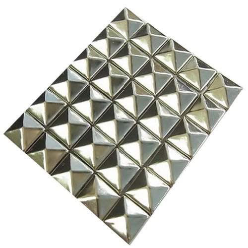 AutoM 100 PCS 10mm Leathercraft DIY Silver Metal Punk Spikes Spots Pyramid Studs Goth Picture