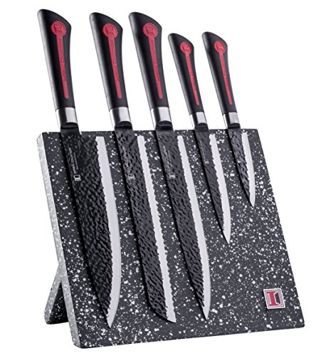Imperial collection 6 piece knife set including magnetic for Gambar kitchen set high quality