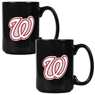 MLB Two Piece Black Ceramic Coffee Mug Set