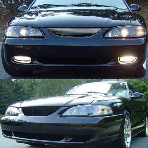 1996 Mustang Headlight Wiring : Rxmotoring ford mustang headlights projector tail
