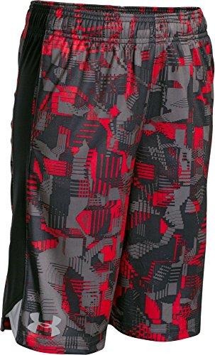 Under Armour-Pantaloncini stampati Boy's Eliminator rischio %2FX-Large, ragazzi, colore: rosso