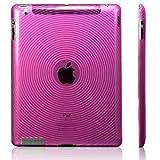 【全3色】iPad 2 用 TPU ケース 渦巻き柄 マゼンタ TPU Case For iPad 2(683-2)