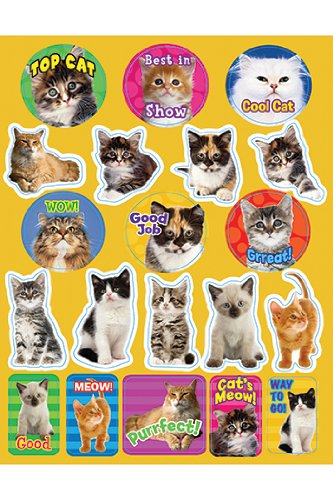 Eureka EU-655202 Motivational Cats Theme Stickers