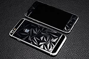 MobiQ 3D Diamond Pattern Mirror Front + Back Tempered Glass Screen Protector for Apple iPhone 6 plus black