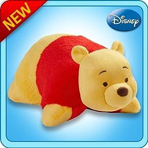 "Pillow Pets Authentic Disney 18"" Winnie the Pooh, Folding Plush Pillow- Large"