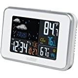 La Crosse Technology 308-145 White Wireless Color weather station with USB charge port