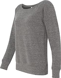 Bella Mia Triblend Sponge Fleece Slouchy Wideneck Sweatshirt 7501 L Grey Heather