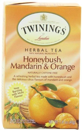 Twinings Unwind Herbal Tea, Honeybush, Mandarin & Orange, 1.41-Ounce Boxes (Pack of 6)
